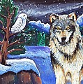 Snowy Night Wolf by Harriet Peck Taylor