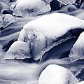 Snowy Rocks by Liz Leyden
