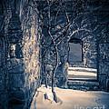 Snowy Ruins At Night by Edward Fielding