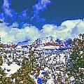 Snowy Sedona by Gary Wonning
