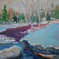 Snowy Stream by Francine Frank