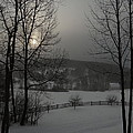 Snowy Sunset  by Mark J Curran