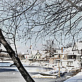 Snowy View Of Boathouserow by Alice Gipson