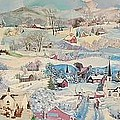 Snowy Village - Sold by Judith Espinoza