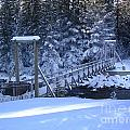Snowy Walking Bridge by Vivian Martin