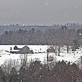 Snowy Winter Farmscape by John Stephens