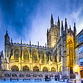 Soaring Perpendicular Gothic Architecture Of Bath Abbey by Mark E Tisdale