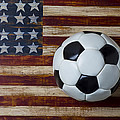 Soccer Ball And Stars And Stripes by Garry Gay
