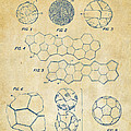 Soccer Ball Construction Artwork - Vintage by Nikki Marie Smith