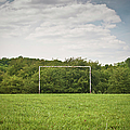 Soccer Goal On Grassy Pitch by Matt Walford