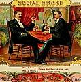 Social Smoke Vintage Cigar Advertisement by Movie Poster Prints
