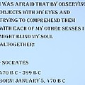 Socrates Quote In Cyan by Rob Hans