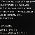 Socrates Quote In Negative by Rob Hans