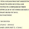 Socrates Quote In Sepia by Rob Hans