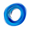 Soft Blue Enso - Abstract Art By Sharon Cummings by Sharon Cummings