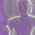 Soft Glow Purple Buddha by Sally Rockefeller
