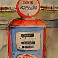 Sohio Gasoline Pump by Elaine Duras
