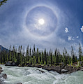 Solar Halo Over Natural Bridge, Yoho V1 by Alan Dyer