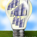 Solar Power Lightbulb by Gwen Shockey
