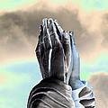 Solar Praying Hands by Sally Rockefeller
