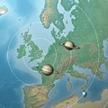 Solar System Compared To Europe by Mark Garlick/science Photo Library