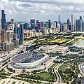 Soldier Field And Chicago Skyline by Adam Romanowicz