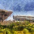 Soldier Field West Side Photo Art 02 by Thomas Woolworth
