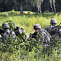 Soldiers Maintain Security At Fort by Stocktrek Images