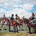 Soldiers On Horseback by Jean-Louis Ernest Meissonier