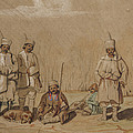 Soldiers Relaxing, 1844 Wc & Gouache On Paper by Georges de Bellio