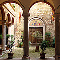 Solemn Tuscan Courtyard by Mark Janeck