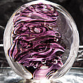 Solid Glass Sculpture Rp5 - Purple And White by David Patterson
