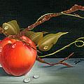 Solitary Apples by Doreta Y Boyd