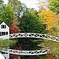 Somesville Bridge In Autumn by Lena Hatch
