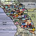 Sonoma County Collage by Pauline Darrow
