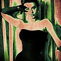Sophia Loren - Green Pop Art by Absinthe Art By Michelle LeAnn Scott