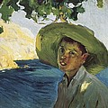 Sorollajoaqu�n 1863-1923. Boy With Hat by Everett
