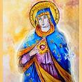 Sorrowful Immaculate Heart by Myrna Migala