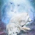 Soul Mates - White Wolves by Carol Cavalaris