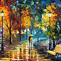 Soul Of The Rain - Palette Knife Oil Painting On Canvas By Leonid Afremov by Leonid Afremov