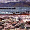 Sound Of Iona  The Burg From The North Shore by Francis Campbell Boileau Cadell