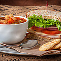 Soup And Sandwich by Mike Penney