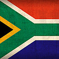 South Africa Flag Vintage Distressed Finish by Design Turnpike