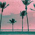 South Beach Miami Tropical Art Deco Five Palms by Steven Hlavac
