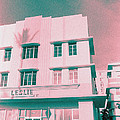 South Beach Miami Leslie Tropical Art Deco Hotel by Steven Hlavac