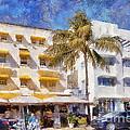 South Beach Miami Art Deco Buildings by Les Palenik