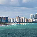South Beach On A Summer Day by Ed Gleichman
