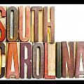 South Carolina Antique Letterpress Printing Blocks by Donald  Erickson