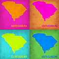 South Carolina Pop Art Map 1 by Naxart Studio