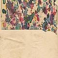 South Dakota Map Vintage Watercolor by Florian Rodarte